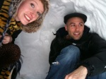 heidi snapped this while we were in the igloo.