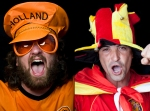 Spanish fans during the 2010 World Cup final of Holland vs.Spain.
