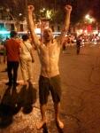 post public fountain dance party
