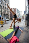 street acroyoga with chelsey korus and matt giordano