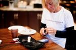 checking blood sugar after breakfast
